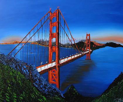 Blue Sky's Of The Golden Gate Bridge 3 by Portland Art Creations