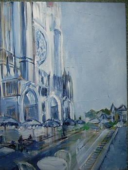 Blue Study of Chartre by Carol Mangano