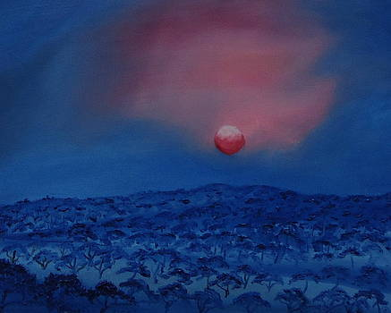 Blue Sunset Of Serengeti by Portland Art Creations