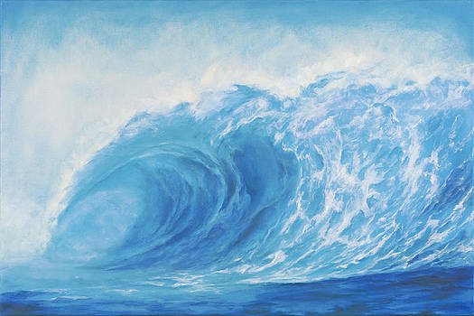 Blue Tsunami Wave by Suzie Richey