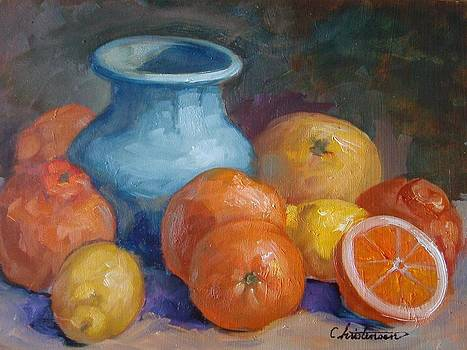 Blue Vase by Larry Christensen