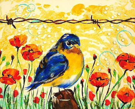 Bluebirds1 by Paula Shaughnessy