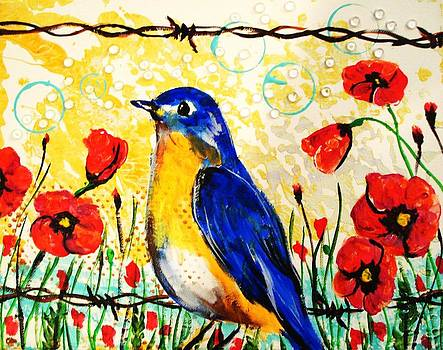 Bluebirds2 by Paula Shaughnessy