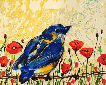 Bluebirds3 by Paula Shaughnessy