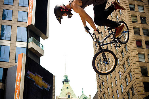 BMX in Times Sq. by Jeffrey Auger