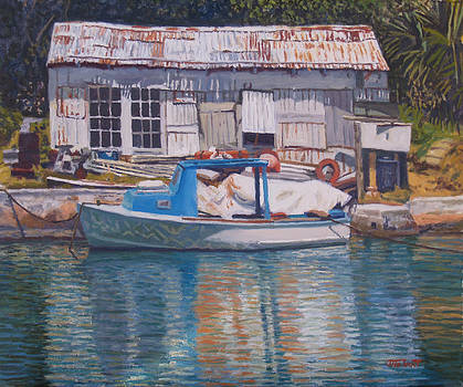 Boat and Shed St. David's by Otto Trott