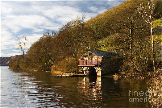 Boat House Ullswater No2 by George Hodlin