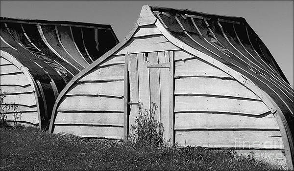 Boat Sheds Lindisfarne by George Hodlin