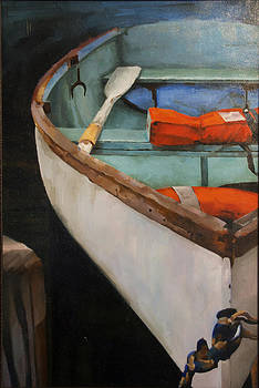 Boat with Red by Jose Romero