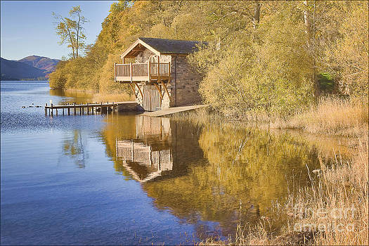 Boathouse Ullswater by George Hodlin
