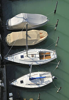 Boats and water from above by Matthias Hauser