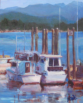 Boats at B Dock by Nanci Cook
