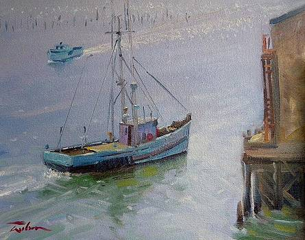 Boats at Seaside by Ron Wilson