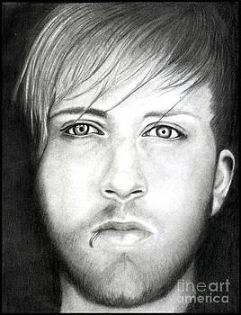 Bob Bryar Pencil Drawing by Debbie Engel