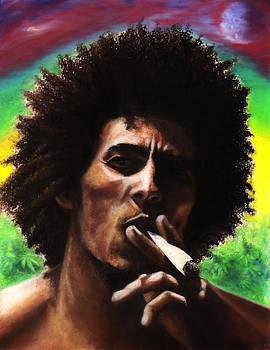 Bob Marley - Field of Greens by Raymond L Warfield jr