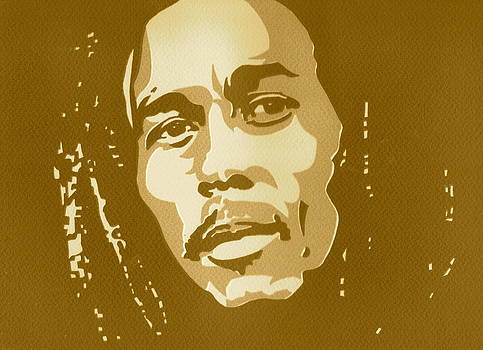 Bob Marley Sepia by Siobhan Bevans