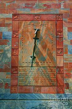Bok Tower Sun Dial Clock by April Wietrecki Green