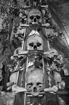 Bone Church Ornaments Kutna Hora Czech Republic by Les Abeyta