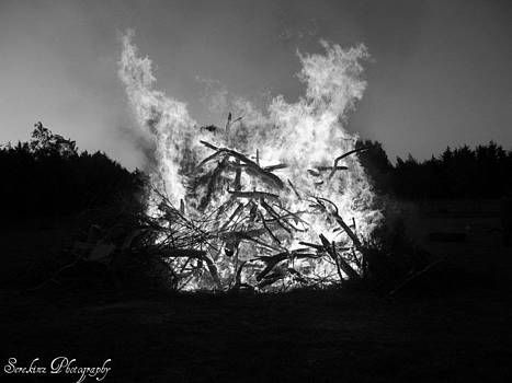 Rachael Shaw - Bonfire Black and White