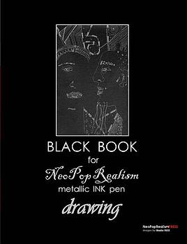 Book by Nadia Russ by Black Book for NeoPopRealism metallic INK pen Drawing