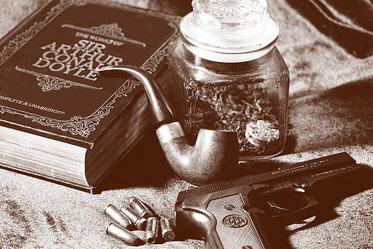 Books and Bullets-Sepia by Barry Jones