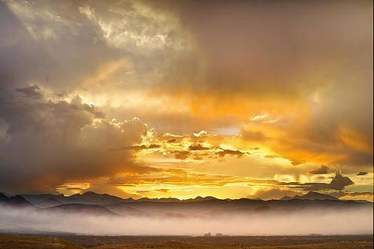James BO  Insogna - Boulder Colorado Flagstaff Fire Sunset View