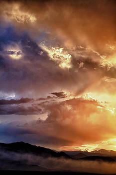 James BO  Insogna - Boulder Colorado Smoky Sunset