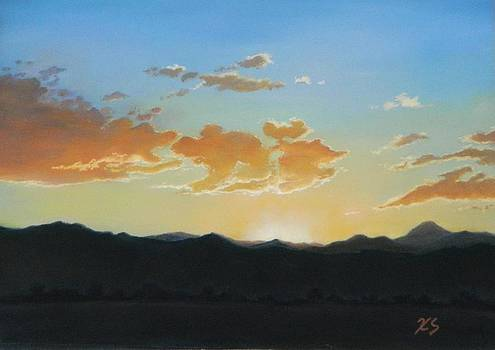 Boulder Foothills Sunset by Xenia Sease