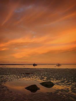 Boulmer at sunset by Paul Davis