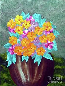 Bouquet In vase by Hasmig Mouradian