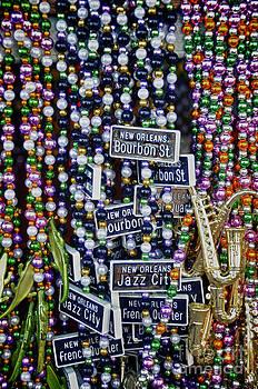 Bourbon St. Mardi Gras Beads by Jeanne  Woods