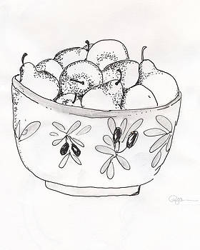 Bowl of Pears by Pamela  Corwin