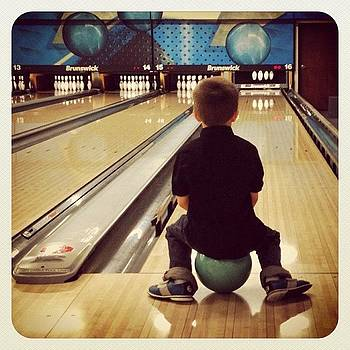 #bowling With My Little Guy. #earlybird by Robyn Montella