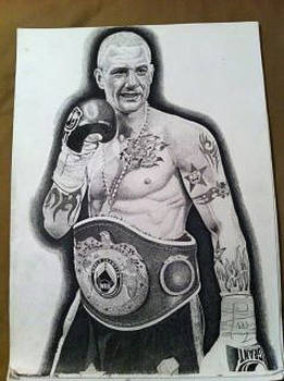 Boxing art by John Slavin