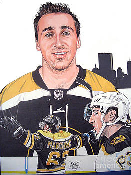 Brad Marchand Boston Bruins by Neal Portnoy