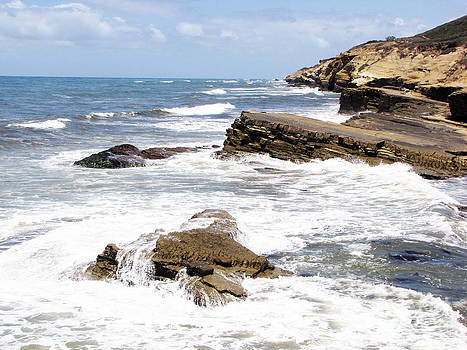 Breakwaters At Point Loma by Cedric Hampton