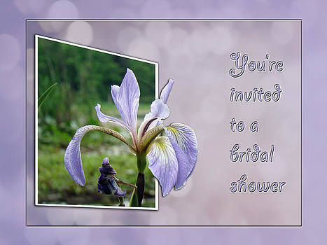 Mother Nature - Bridal Shower Invitation - Blue Flag Iris Wildflower