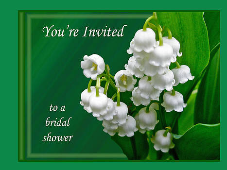 Mother Nature - Bridal Shower Invitation - Lily of the Valley