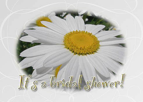 Mother Nature - Bridal Shower Invitation - White Ox Eye Daisy