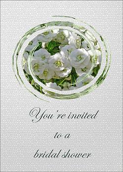 Mother Nature - Bridal Shower Invitation - White Spirea