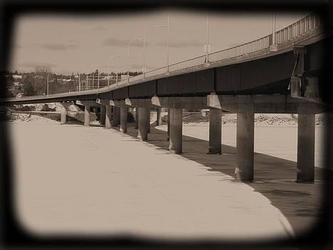 Bridge froze in time by Jonathan Lagace