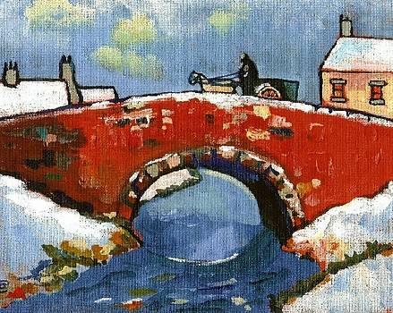 Bridge in snow by Peter  McPartlin