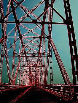 Bridge On The Mississippi by J R Seymour