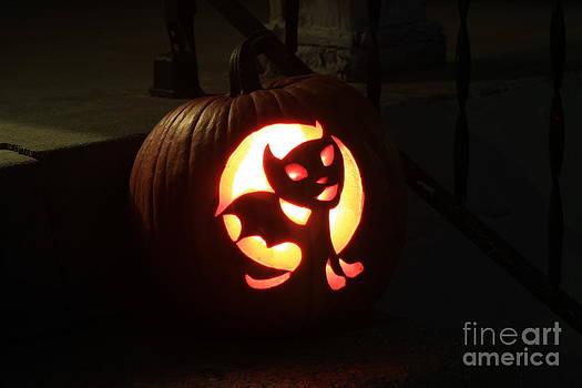 Bright Colorful Halloween Pumpkin by Robert D  Brozek