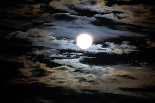 Bright Moon though Clouds by Mathew Tonkin Henwood