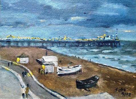 Brighton Pier UK by Victor SOTO