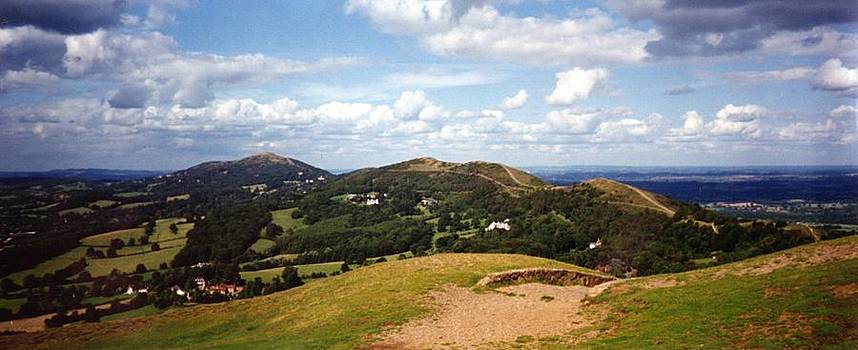 British Camp View of Malvern Hills by Ronald Osborne