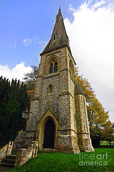 Simon Bratt Photography LRPS - British church tower in an English garden