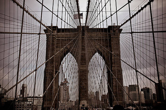 Brooklyn Bridge Aged to Perfection by Martin Goldberg