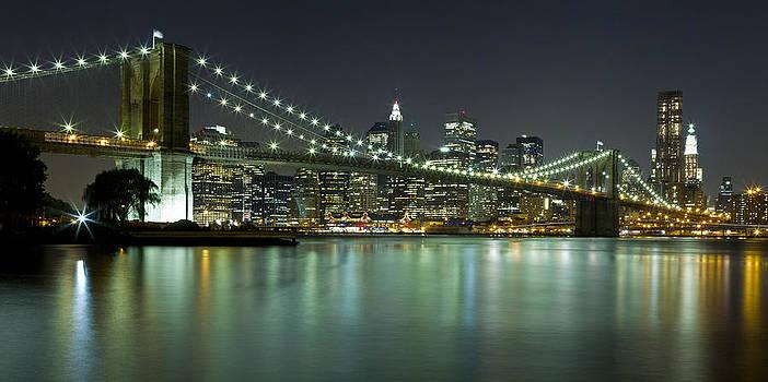 Val Black Russian Tourchin - Brooklyn Bridge at Night Panorama 6